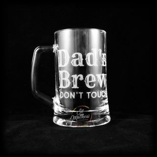 Sandblasted Dad's Brew Mug