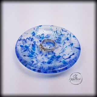 Dinky Dish - Blue Bubbles