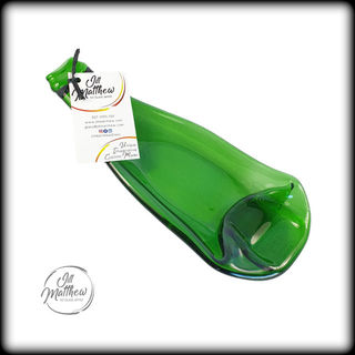 Upcycled Wine Bottle - Green Dish