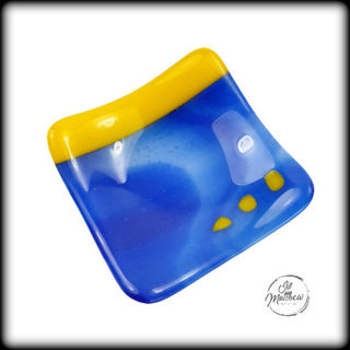 Blue and Yellow Trinket Dish
