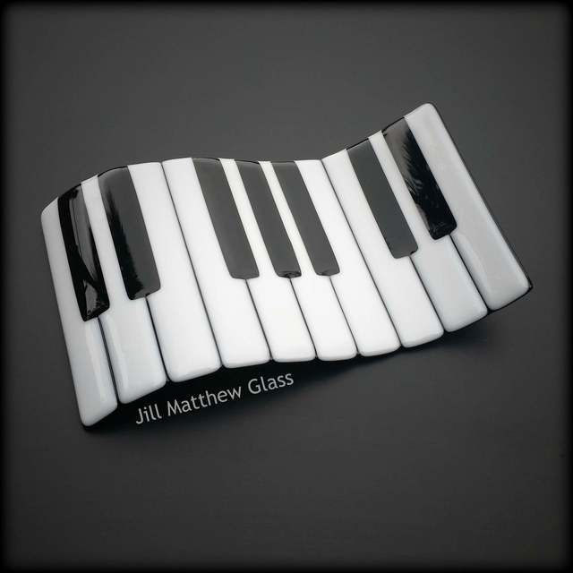 Fused Glass Piano - Wave