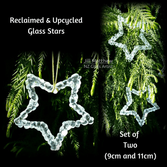 Reclaimed & Upcycled Glass Stars